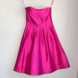 Diane Von Furstenberg Strapless Silk Dress Size 2